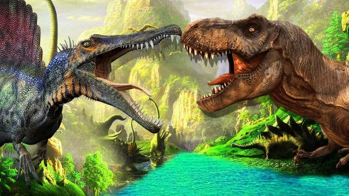 оговорюсь, что картинки только про динозавров написана маслом холсте