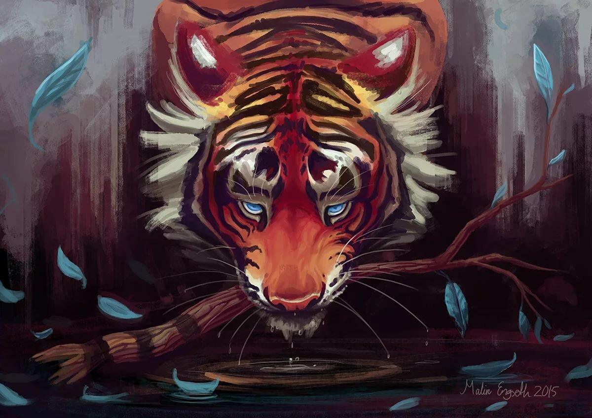 картинки кровавый тигр всяким козлам придурками