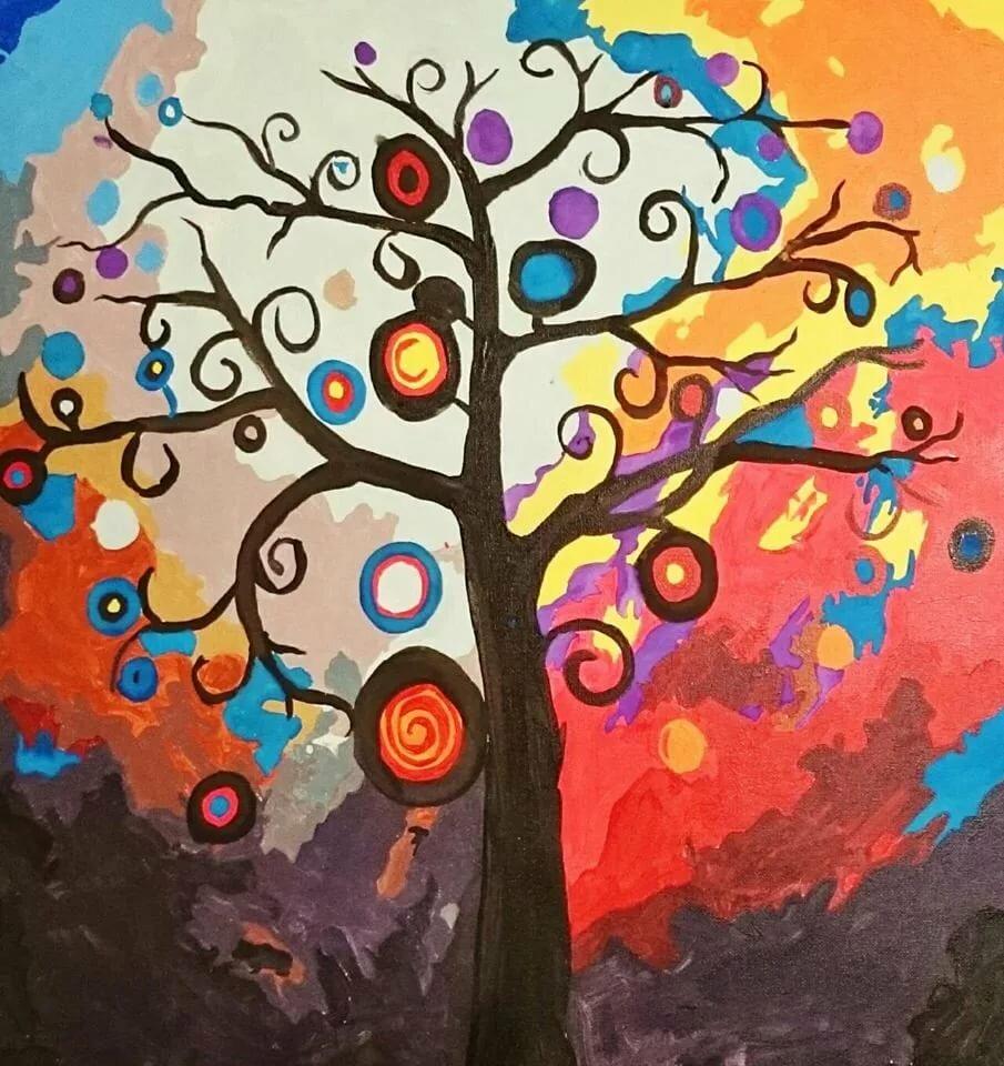 Волшебное дерево картинки для срисовки