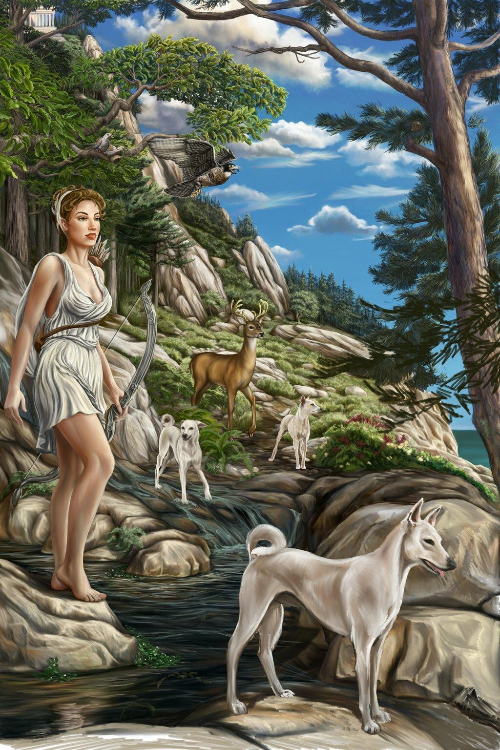 Картинки богини диана