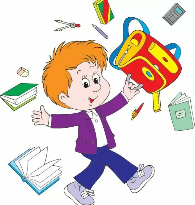 Утро, картинки для детей школа и ученики