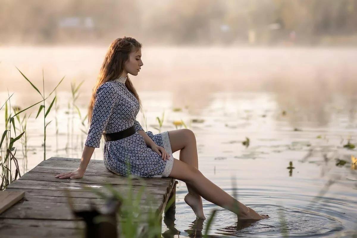 как сделать фотосессию у реки создает