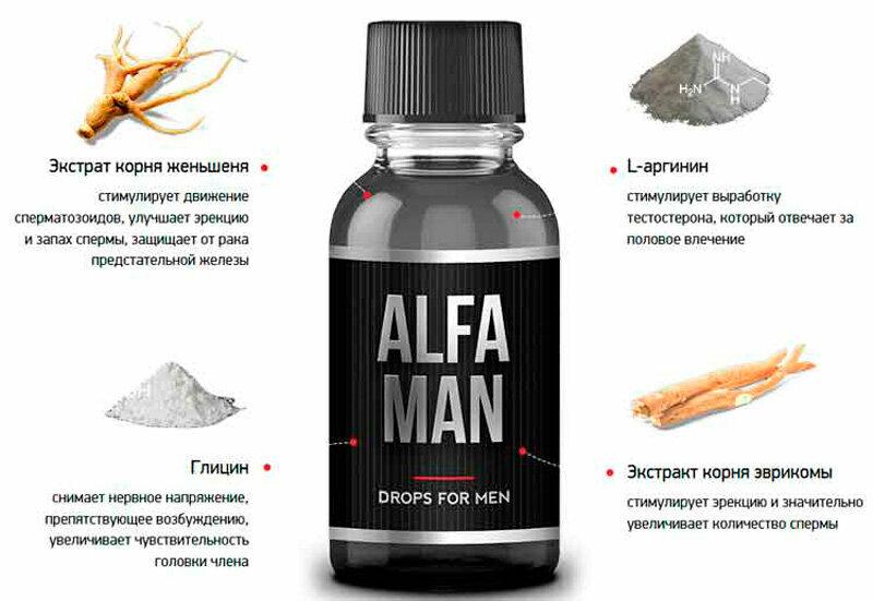 Alfa Man - капли для потенции в Новочебоксарске