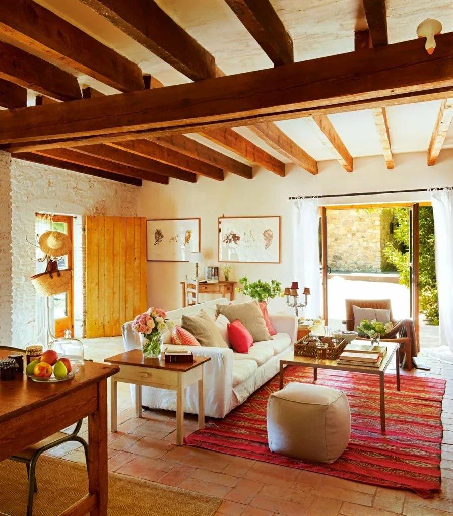 Деревенский дизайн в собственном доме фото
