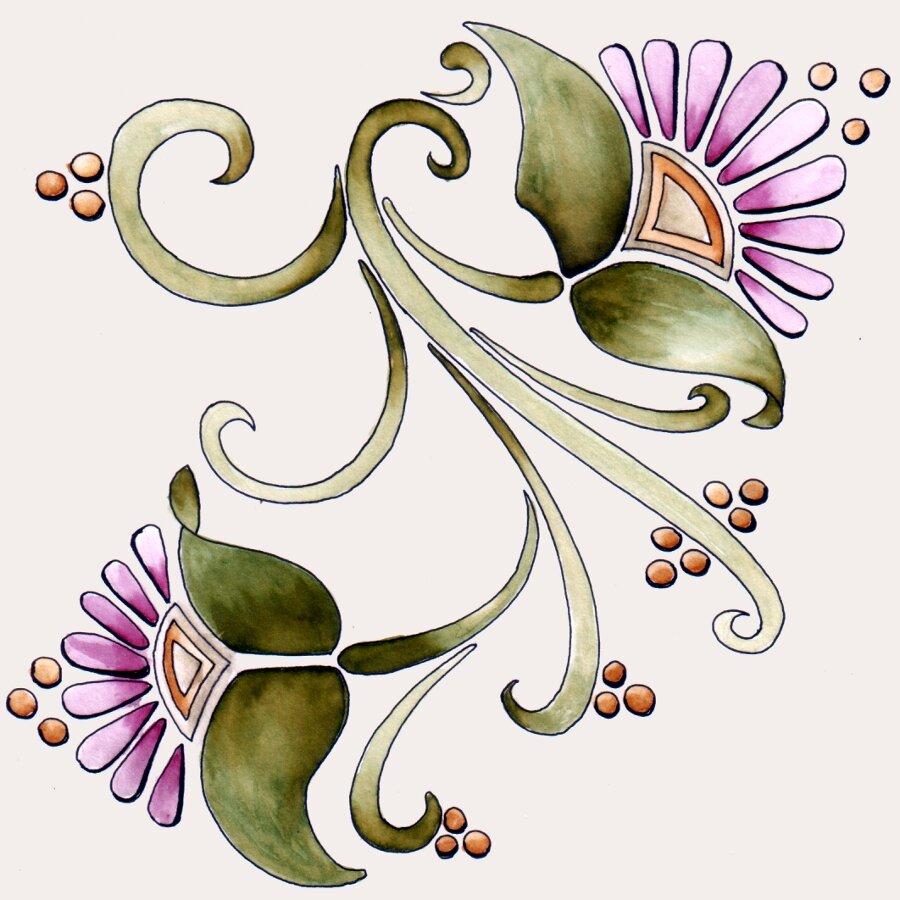 цветы в стиле модерн картинки после того как