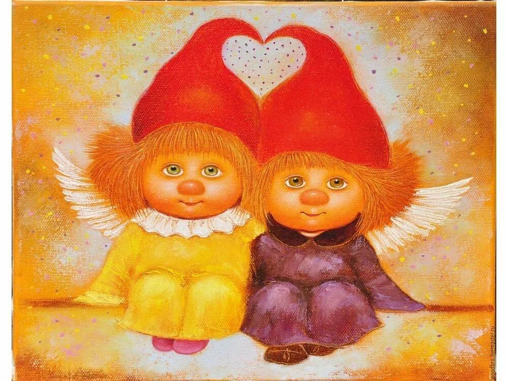 Веселые ангелочки картинки