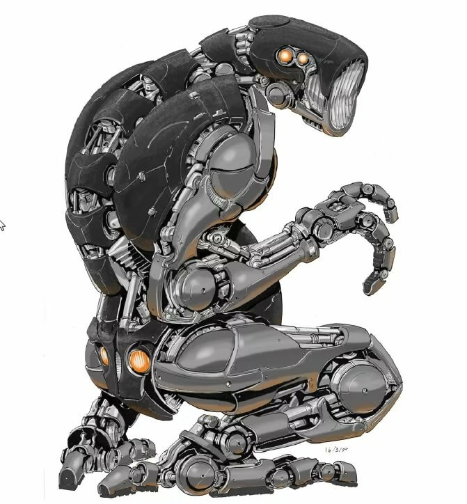 Разобранный робот картинка
