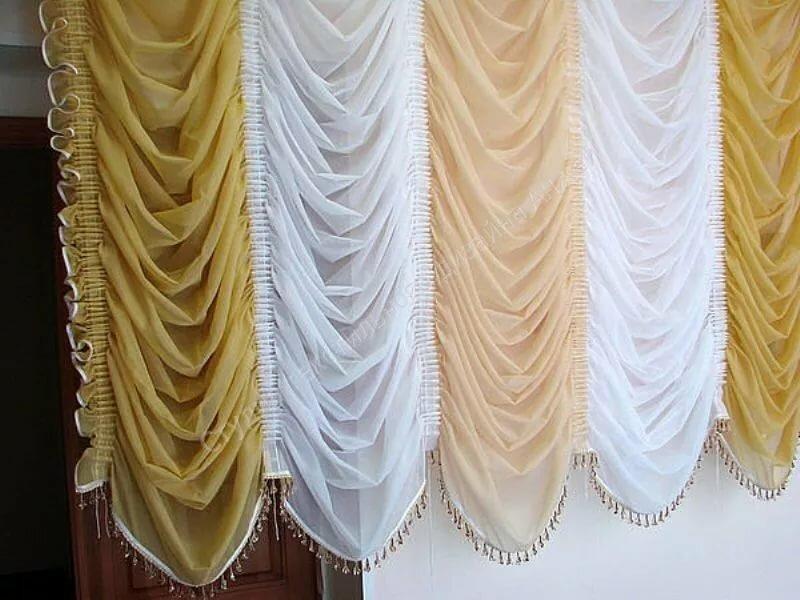 Фото тюль на белые занавески