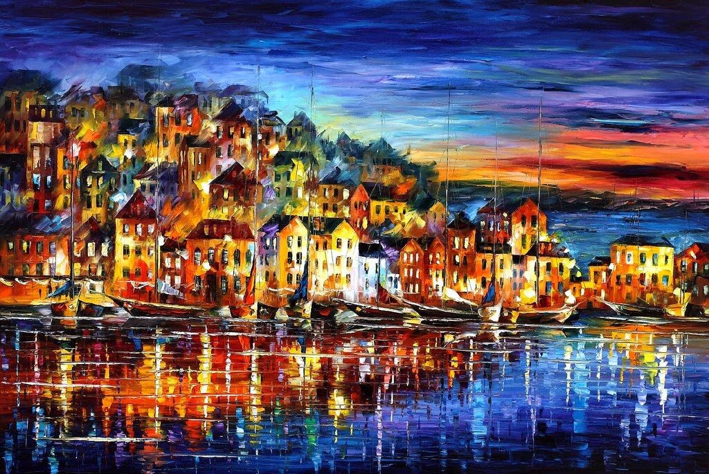 картинки города красками самых необычных