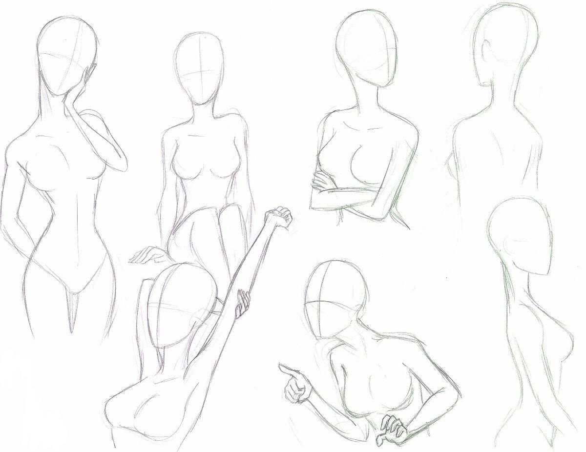 Anime girl drawing poses poses deviantart drawing sketch