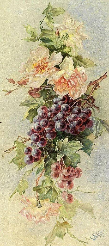 Цветы и фрукты открытки, распечатать надписями поздравления
