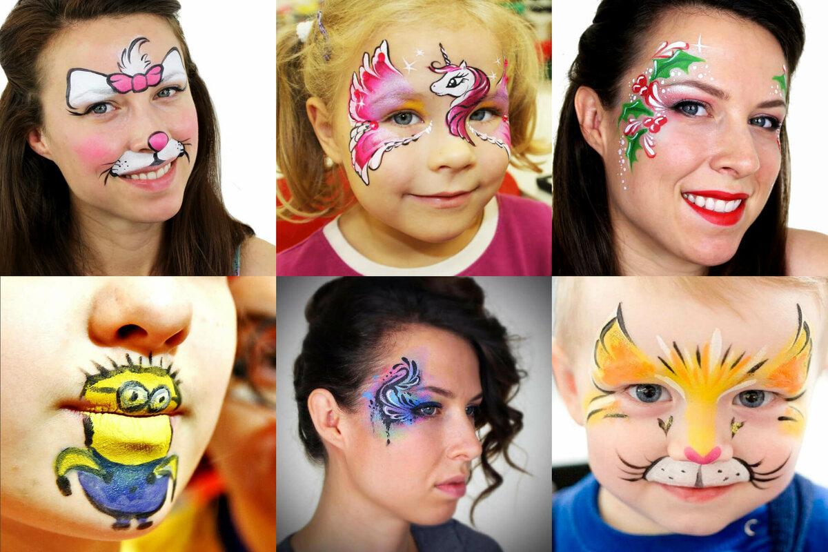 картинки нарисовать красками на лице они