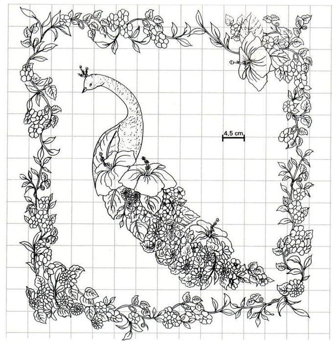 Схема вышивки гладью из картинки