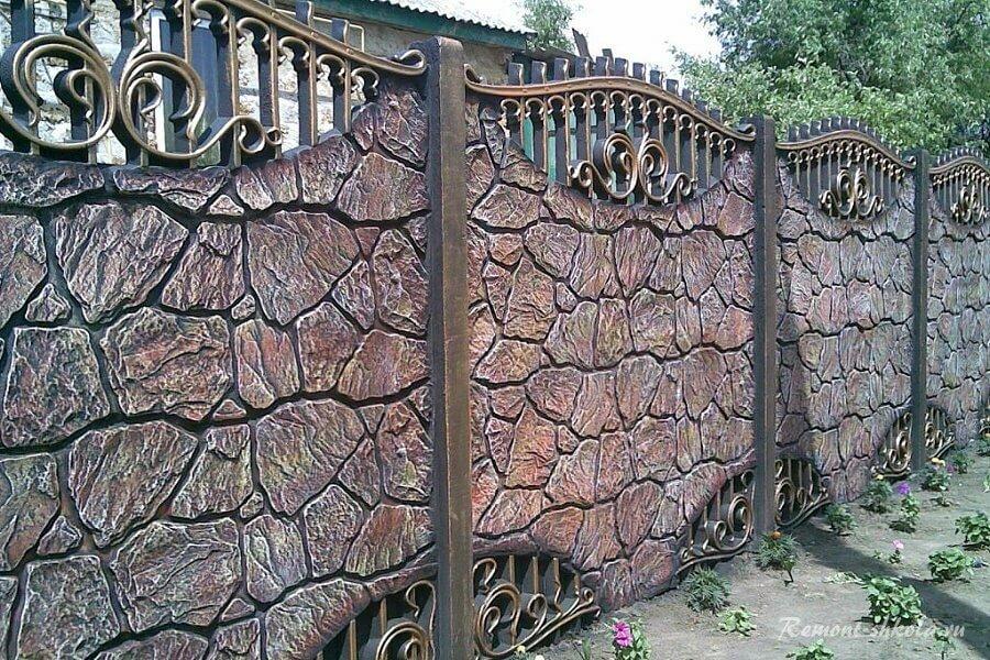 ограждения из бетона
