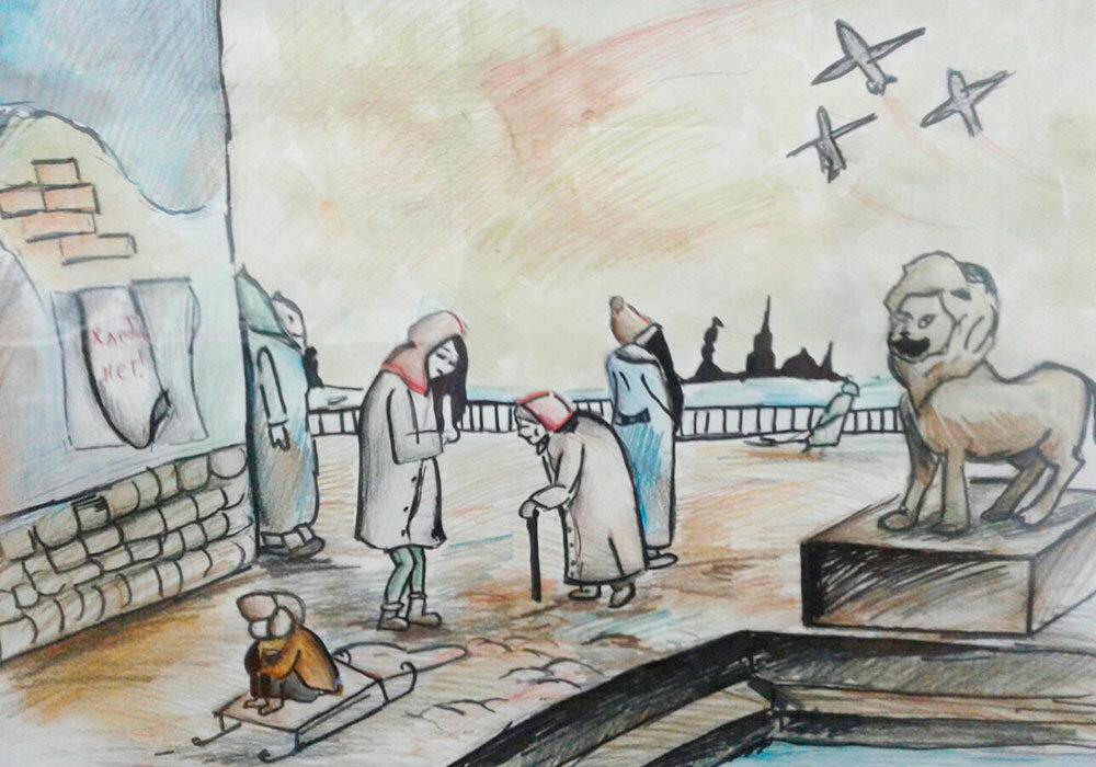 Иллюстрации к блокадному ленинграду образованную