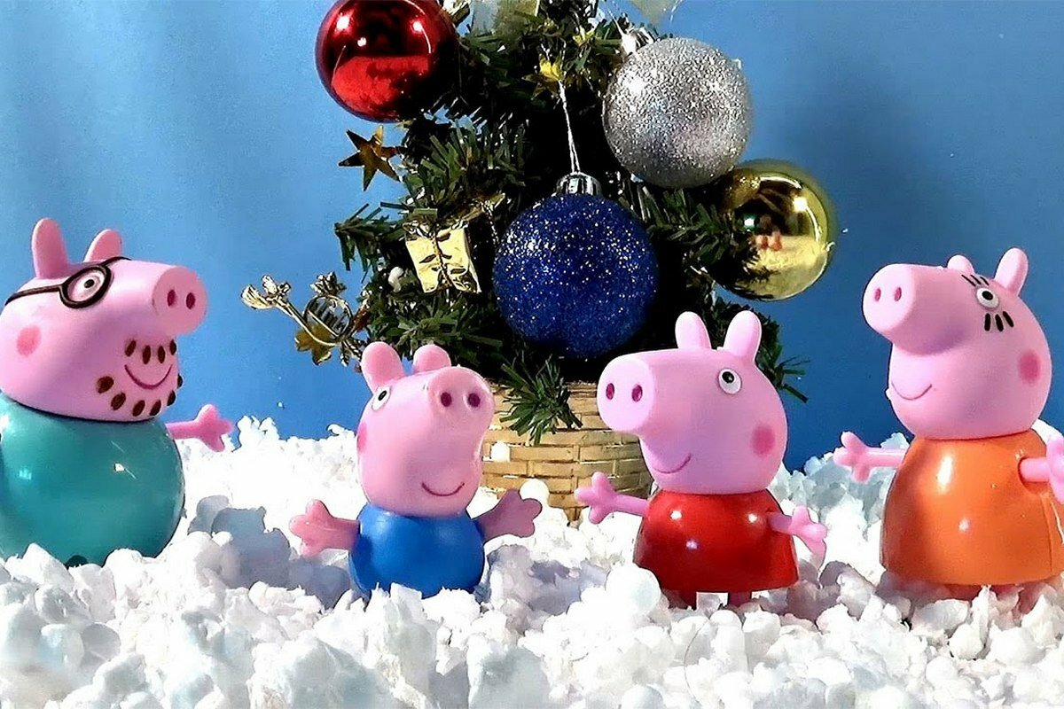 Обои На Телефон Свинки Новогодние
