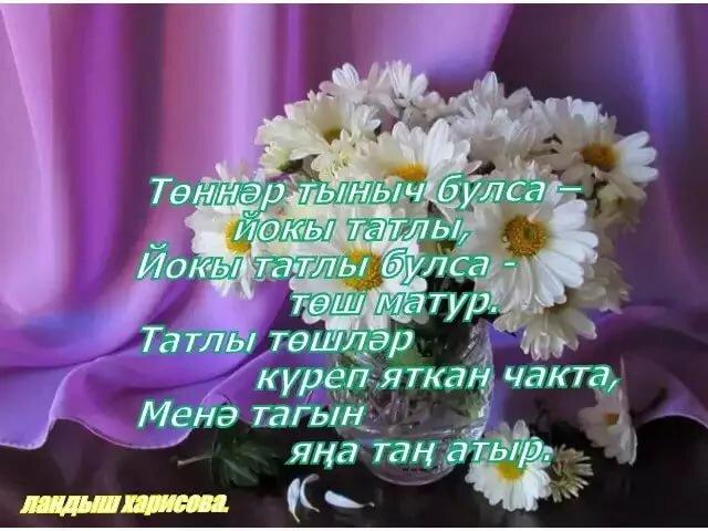 Открытки добрый вечер и спокойной ночи на татарском языке, открытка