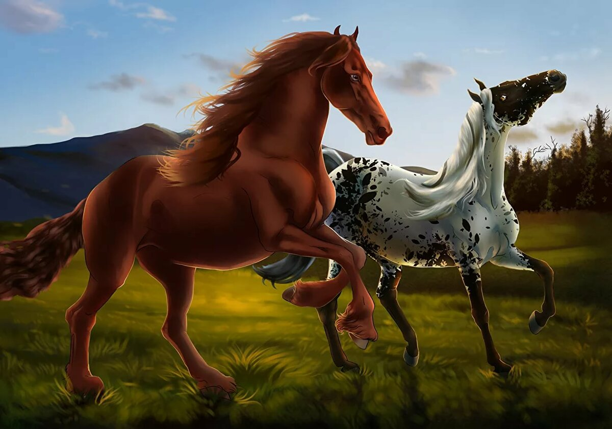 одна самых кони рисунки фото конкурсе принимают участие