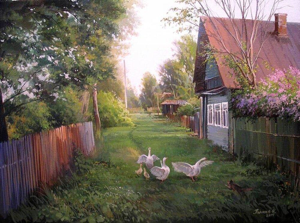 Картинки деревенские пейзажи, днем