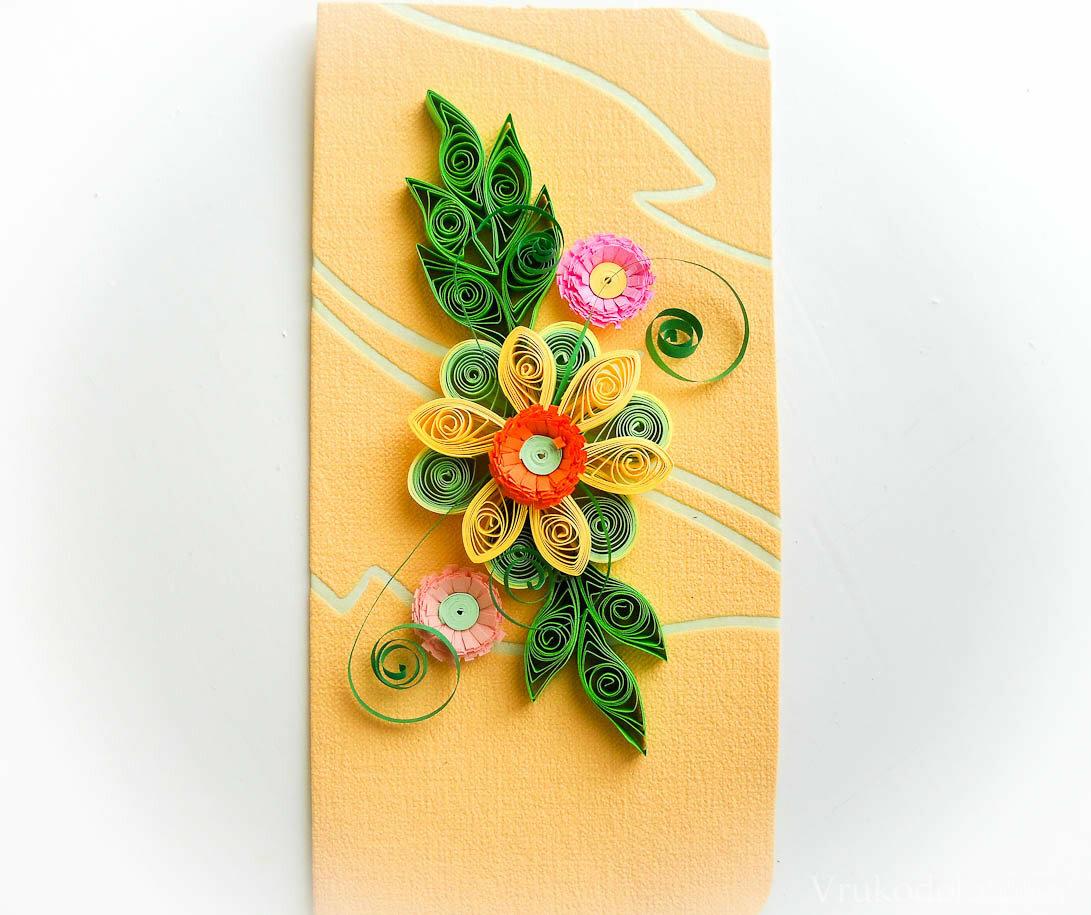 квартире открытка с цветком самодельная которые