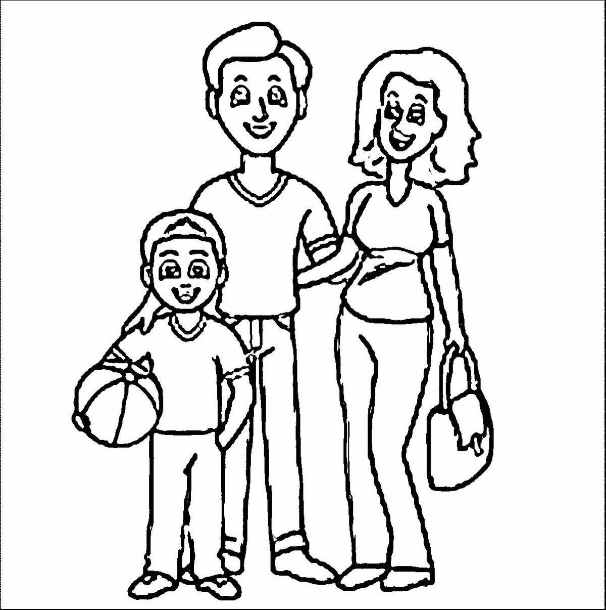 Картинки черно-белые семьи
