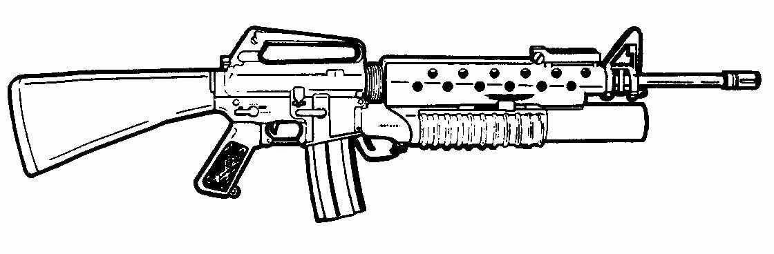 пулемет картинка для раскраски кобра