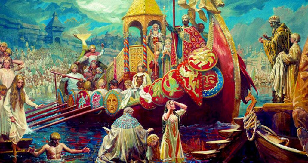 Открытки мая, князь владимир картинки крещение руси картинки