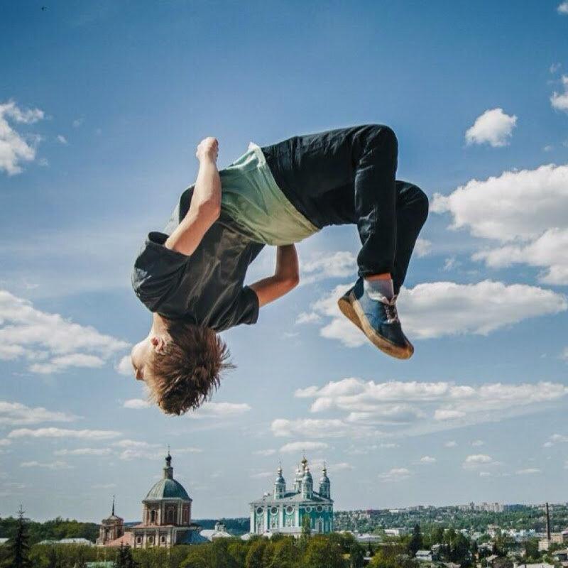 Как сделать крутое фото в прыжке