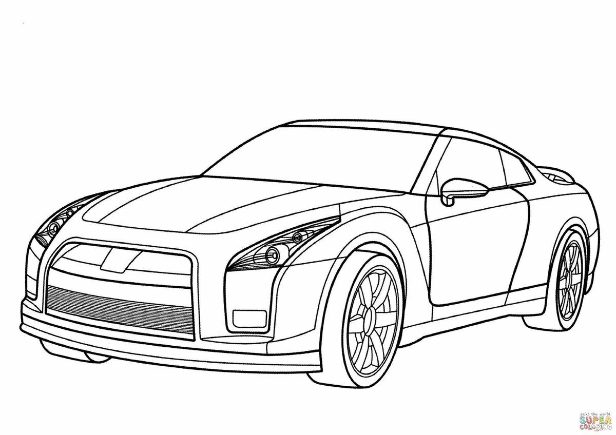 Крутые машины раскраска