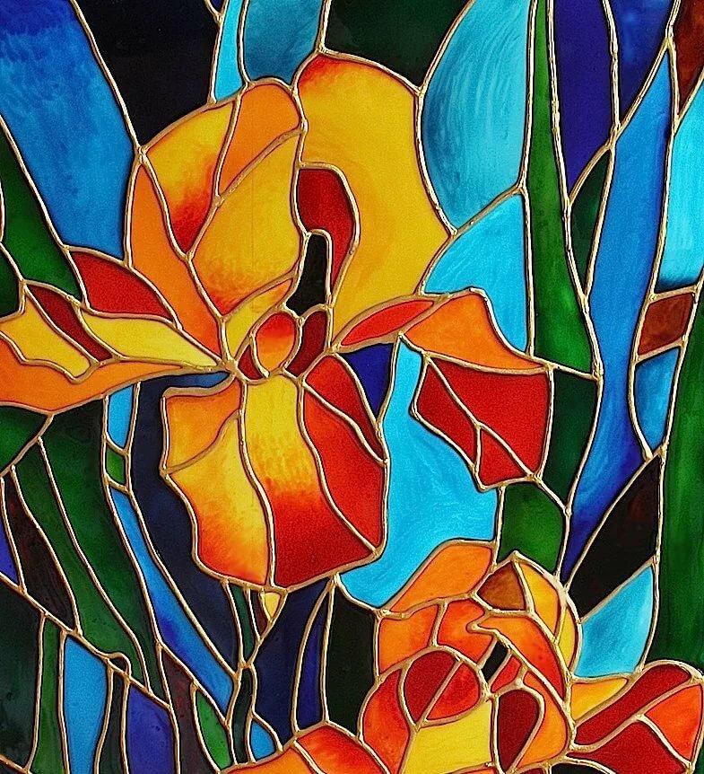 Картинки рисовать витражными красками