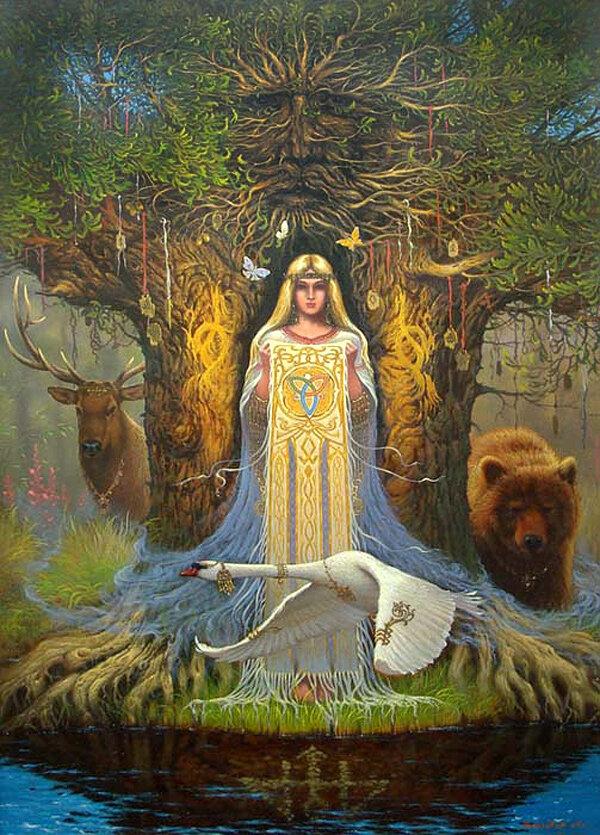 Летием совместной, картинки языческие боги