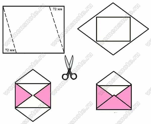 Как сделать из тетрадного листа открытку
