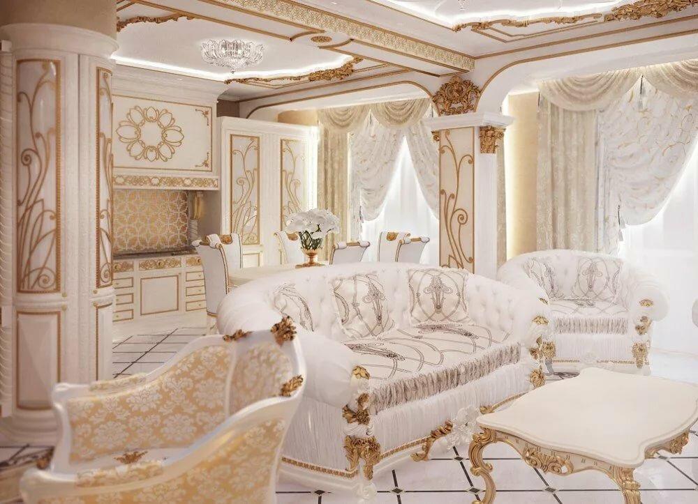 без накида красивые гостиные в стиле барокко фото чаще всего