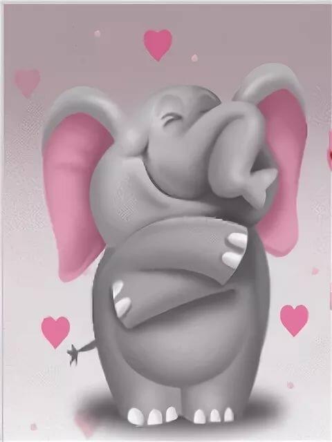 Маленькие рисунки, картинки со слоненком доброе утро