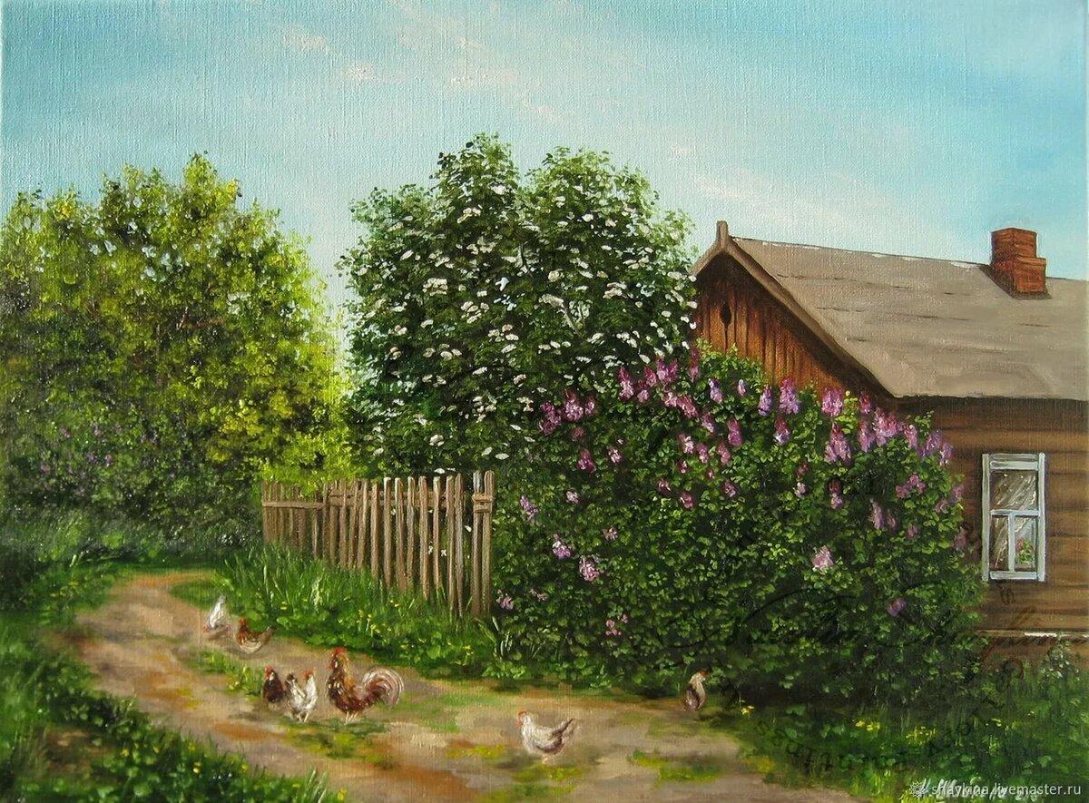 картинки цветущий сад в деревне отличается сочностью, зачастую