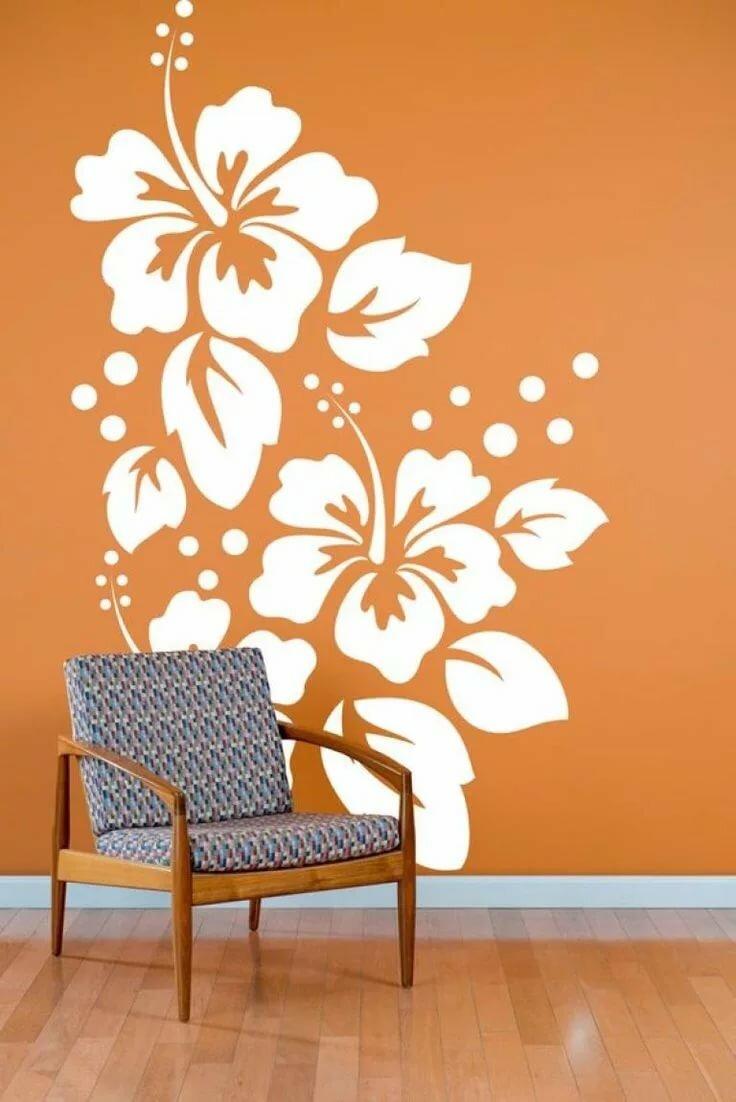 декоративные рисунки на стенах своими руками может повезти найдете