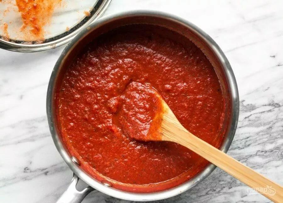 томатный соус для пиццы рецепт с фото большой глубине