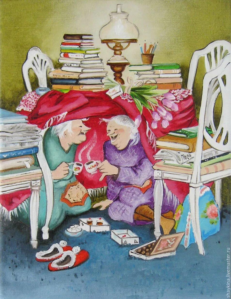 открытки озорные старушки