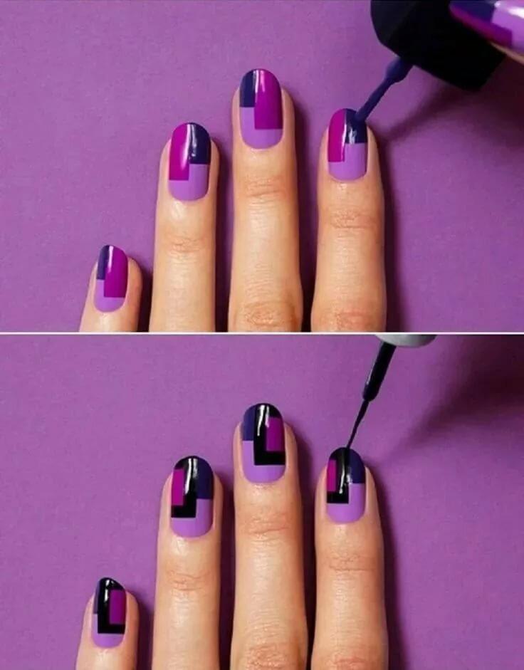 легкие рисунки на ногтях для начинающих фото