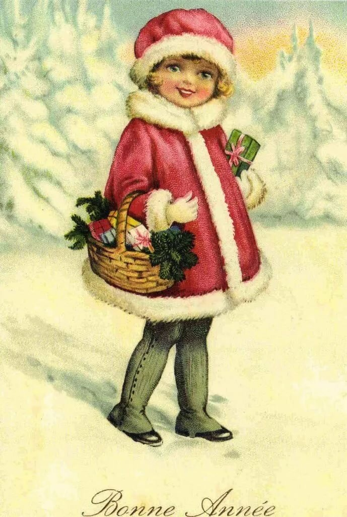 Новогодний открытки ретро, спецназа