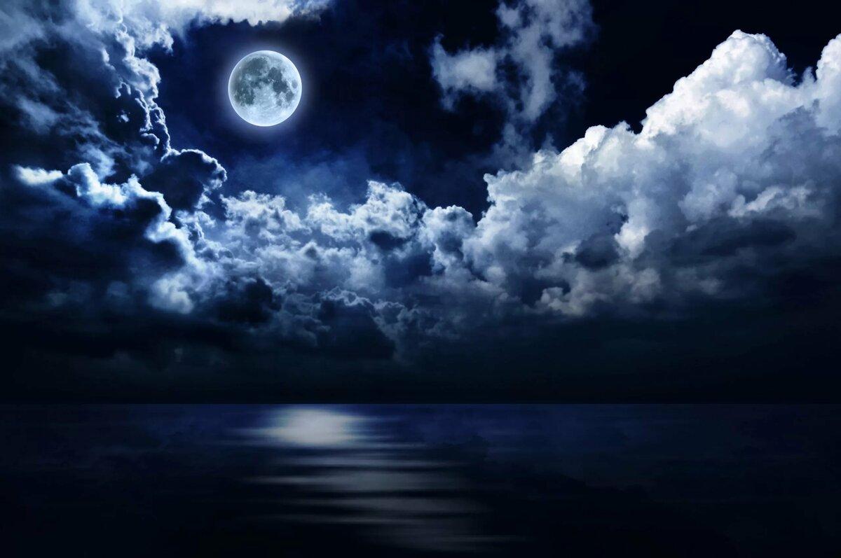 Картинки добрым, картинки ночка лунная