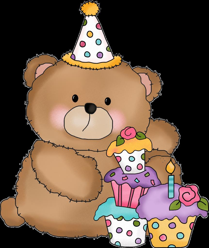 Картинка с днем рождения медведь