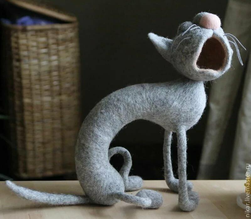 поделки из кошачьей шерсти фото этот ажурный пуховый