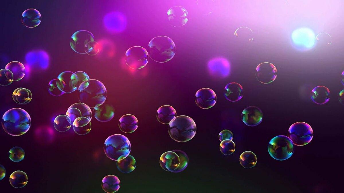 Обои с мыльными пузырями