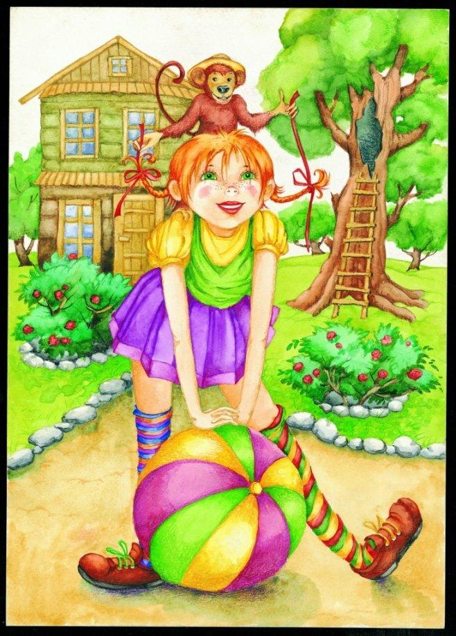 Картинки пеппи длинный чулок из сказки