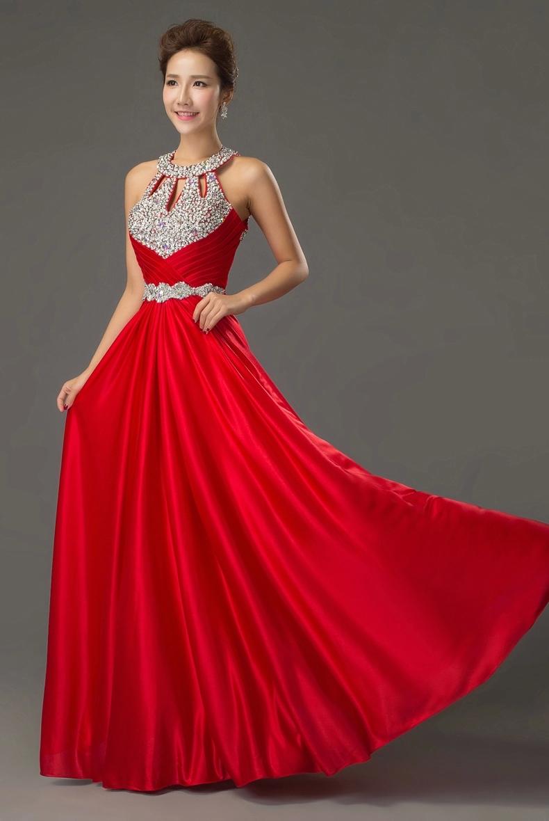 Imagenes de vestidos rojos para graduacion