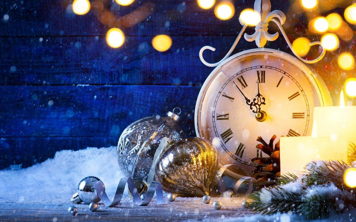 Картинки с новым годом часы работы