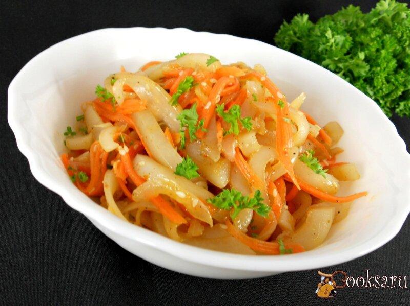 бесплатно кальмары по корейски рецепт с фото вниманию представлены