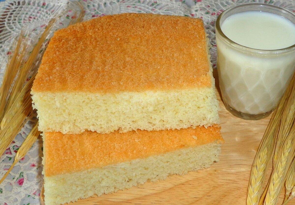 Бисквит из сухого молока рецепт с фото