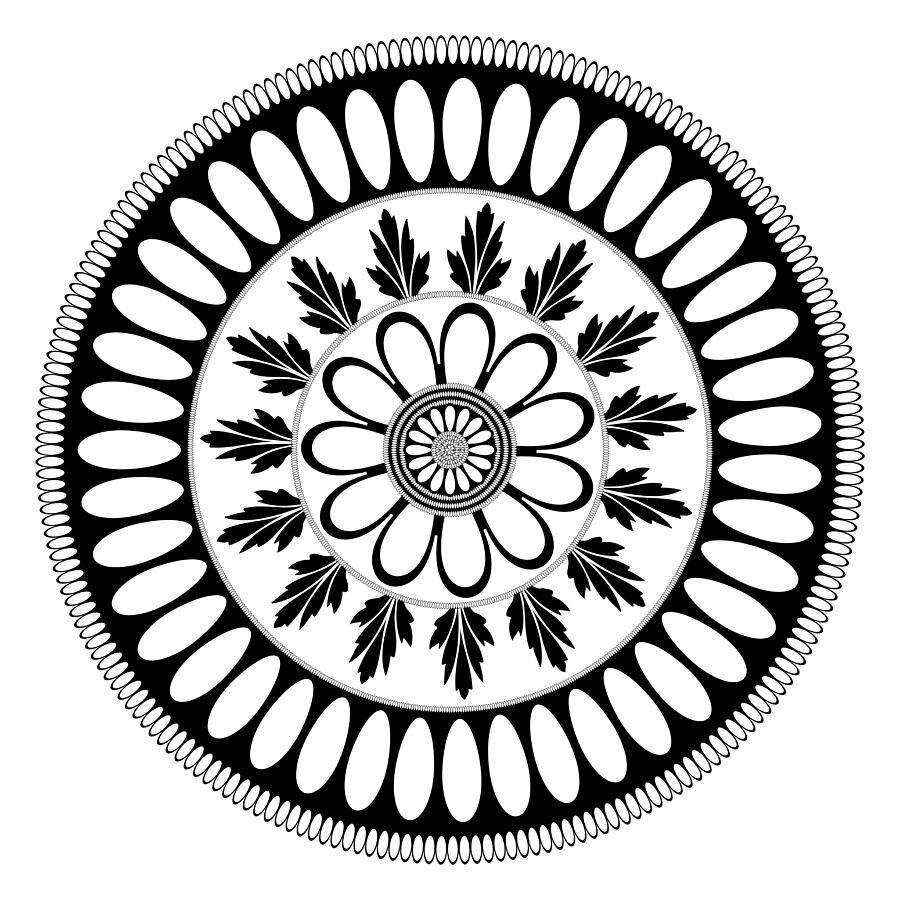 Орнамент в круге в картинках
